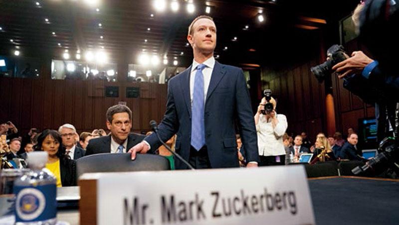「都是我的錯。」臉書創辦人佐伯格因個資外洩,赴國會作證道歉,未來它會面臨更嚴格監管。