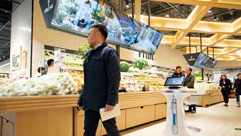 購物車機器人,自動跟著你買菜