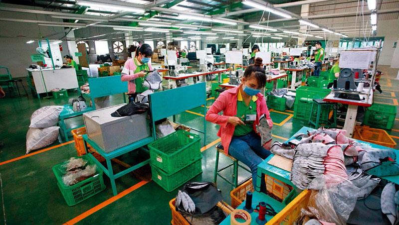 中美通吃,營收年增3成_自行車坐墊大廠鋒明正在趕製坐墊布,靠著在越南通吃中美兩國訂單,今年營收成長3成。