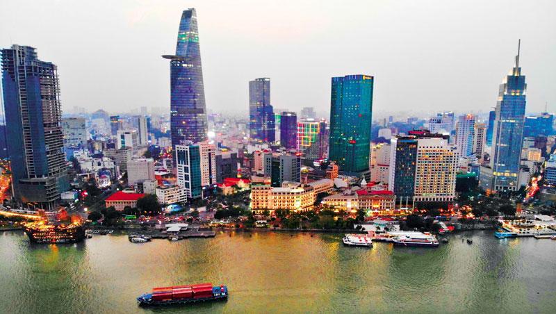 胡志明市阮惠街.西貢河