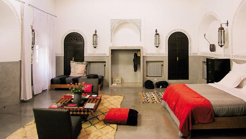 設計將北非與義大利特色相互融合,形成獨特的趣味。