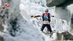 在世界最高冰河奔跑